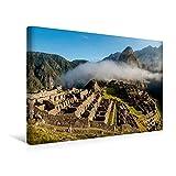Premium Textil-Leinwand 45 cm x 30 cm quer, Machu Picchu im Morgennebel | Wandbild, Bild auf Keilrahmen, Fertigbild auf echter Leinwand, Leinwanddruck (CALVENDO Orte)