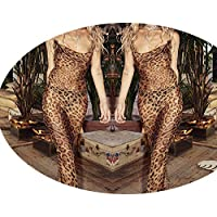skirt Ropa de Mujer Europea Y Americana, Vestido de Leopardo con Faja, Vestido de Noche,Estampado de le,S