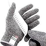 ALTcompluser Schnittfeste Handschuhe – Leistungsfähiger Level 5 Schutz, lebensmittelecht.1 Paar(XL)