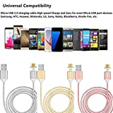 #8: Original Magnetic Cable For iPhone and Android Devices, 2 in 1 magnetic cable compatible with Samsung, iPad, iPhones, iPods, HTC, Sony, Micromax, Lava, Karbonn, Nokia, ZTE, Lenovo, Huawei, Tablets