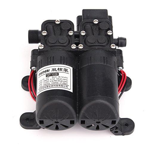 KUNSE 12V 105Psi 5.5 L-Membran Wasserpumpe Selbstansaugender Doppeldruck Für Sprinkler
