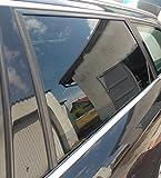 10,52€/m² Auto Scheiben Tönungsfolie Tief Schwarz Chrome Titanium Tüv frei inkl. AGB (1mx152cm Black 95)
