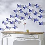 #7: Jaamso Royals Blue 3D Butterflies' Wall Sticker (1 Combo Pack of 12 Butterfly) ,Multicolor