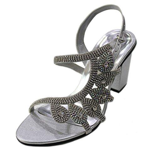 Wear & Walk UK , Damen Sandalen mehrfarbig mehrfarbig 36-42 Silber