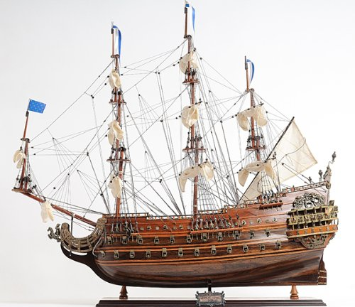 Nordhavn Soleil Royal 1670 - Maqueta de Barco de velero de Madera