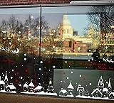 Bukely Pegatinas de Navidad, Navidad Decoracion Navidad Copo de Nieve, Pegatinas de Pared...