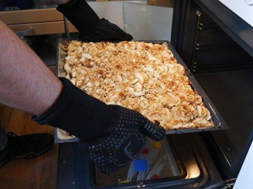 51WvoKS1AaL - Premium Ofenhandschuhe aus Aramid - hitzebeständig bis 500°C - elegantes Design - Vielseitig einsetzbar - Grillhandschuhe - Kaminhandschuhe - Topfhandschuhe - Backhandschuhe (schwarz)