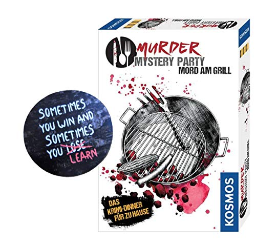 Kosmos Murder Mystery Party - Mord am Grill (Spiel) 6 - 8 Spieler + 1 Cooler Sticker Sometimes You Win.. by Collectix gratis - Grill-party