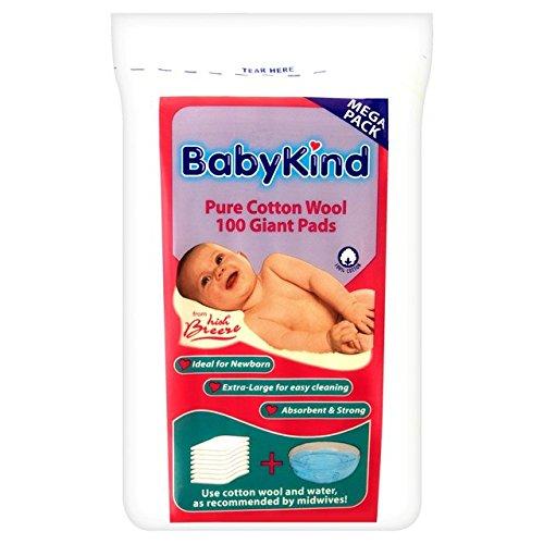 Babykind géants coton Pads 100 par paquet
