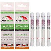 AlcoScale - 4 Alkoholtester für Europa (DE, FR, IT, GB, PL) - 2 x Twin Pack