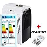 TROTEC Lokales mobiles Klimagerät Klimaanlage PAC 2000 X mit 2,0 kW / 7000 Btu (EEK A) das 3-in-1-Multitalent für Kühl-, Heiz- oder Entfeuchtungsbetrieb inklusive Tür- und Fensterabdichtung AirLock 1000