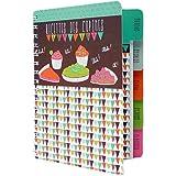 """Derrière la porte - Cuaderno para apuntar recetas de cocina, diseño con texto """"Recettes des Copines"""""""