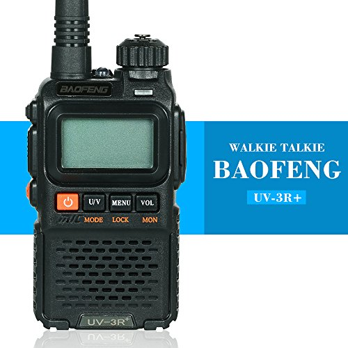 Festnight BAOFENG UV-3R + Long-Bereich Wireless Walkie Talkie 136-174/400-470 MHz Dual Band Notfall Alarm FM Transceiver Dual-band-led-radio