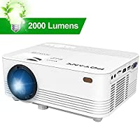 POYANK Projector, 2018 Upgraded Video Projector supports 1080P 170 Inch, Compatible Fire TV Stick, Smartphone, PS4, XBox, Chromecast, PC, Home Theater Projector, White.