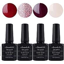Annabelle Esmaltes Permanentes Para Uñas Nail Art Soak Off UV LED Esmalte Permanente de gel (Lot 4 pcs 7.3ML/pc ) 044