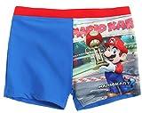 Boxer de bain enfant garçon Mario Kart Bleu/rouge de 4 à 10 ans
