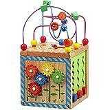 Xyanzi Kinderspielzeug 6-in-1 - Hölzerner Aktivitätsspielwürfel , Multi-Funktionslern-Multi-Sensorik-Lernspielzeug Für Kleinkind & Kinder