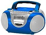 Soundmaster SCD5350BL Radio/CD-Player mit externen Mikrofon, blau