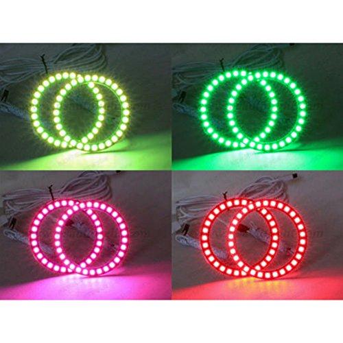 Rgb Eyes Angel (460mm RGB Halo Ringe Scheinwerfer Auto Angel Eyes Motorrad mit 24Tasten Controller)