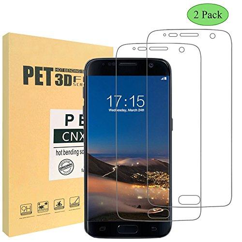 [2 Stück] CNXUS Schutzfolie für Samsung Galaxy S7- 0,2mm Ultar Klar und Dünn, Vollständige Abdeckung-Galaxy S7 Displayschutzfolie vor Ölschmutz, Fingerabdrücke, Schweiß und Wasser