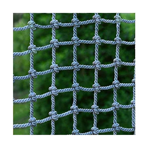Safety net decoration / Climbing Safety Net for Balcony Banister Stair Protection Fence Rope Net Large Playground Tree Outdoor Mesh Indoor Anti-fall Net (Color : 15cm-14mm, Size : 1 * 8m/3.3 * 26ft) AI LI WEI Climbing Net Material: polyamide fibre. Net Climbing Wall Characteristics: Elastically extensible ability of small, weather resistant, wear resistant, long service life,environmentally friendly, non-toxic, quality assurance.This material can change color by itself. Climbing Cargo Net Mesh size*rope diameter: 20cm*14mm(7.8*11/20) , 15cm*14mm(6*11/20) , 25cm*16mm(9.8*5/8). Length*width: please make purchase according to your actual needs.We have any other size (rope diameter, mesh, length * width) rope net, support customization.If you have any questions or needs, please contact us. 1