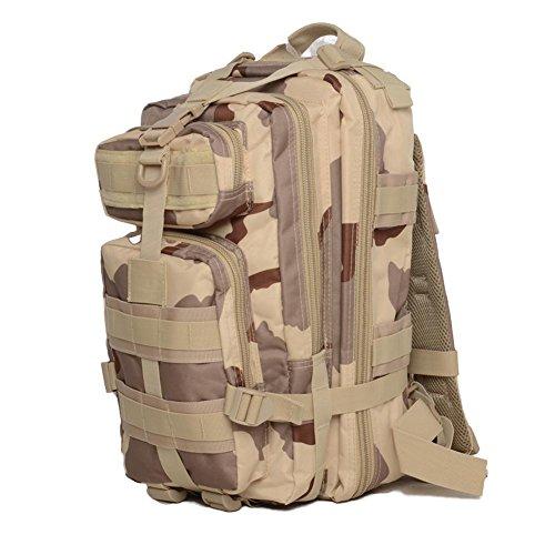 Wandertasche 30L3P Tactical Rucksack 600D Wasserdichte Oxford Rucksäcke desert camouflage