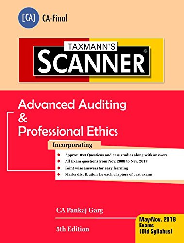 Scanner-Advanced Auditing & Professional Ethics (CA-Final)(May 2018 Exam-Old Syllabus)