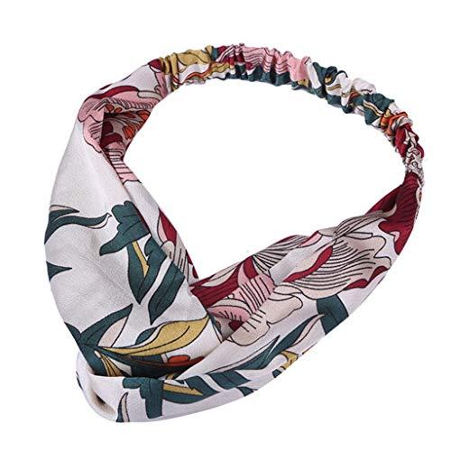 Yvelands Mode Damen Stirnbänder Haar Stirnband Haarschmuck Weinlese-Blume druckte elastische Kopf-Verpackungs-verdrehte Nette Haar-Zusätze Adapter Sweatshirt