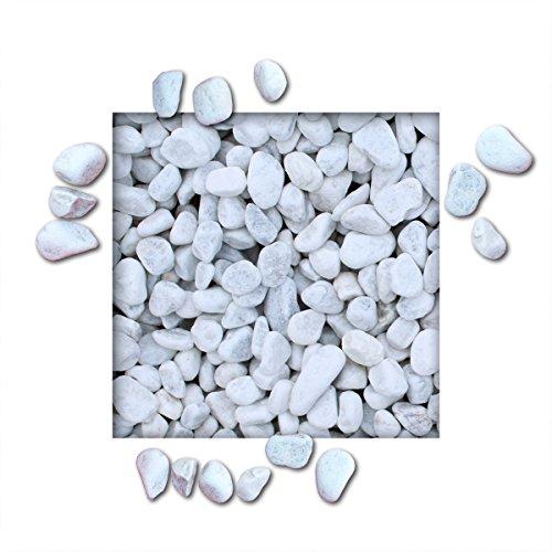 10 kg Marmorkies Carrara Weiss verschiedene Körnungen direkt vom KiesKönig® Körnung 25/40 mm