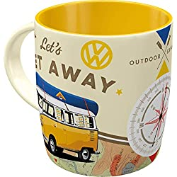 Taza vintage de Volkswagen VW de cerámica 8.5 x 13 x 9 cm