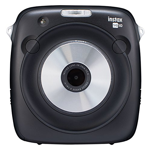 Foto Fujifilm Instax Square SQ10 Fotocamera Ibrida Istantanea e Digitale con Scheda di Memoria, per Foto Formato Quadrato 62x62 mm, Nero