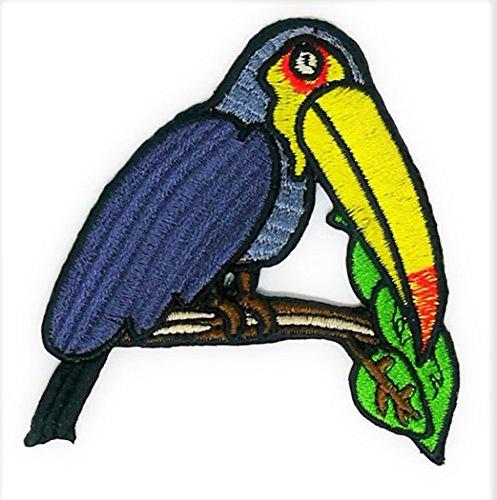 Hornbills Birds Animal Cartoon bestickt Nähen Eisen auf Patch Cartoon Nähen Eisen auf bestickte Applikation Craft handgefertigt Baby Kid Girl Frauen Tücher DIY Kostüm Zubehör (Frauen Bird Kostüme)