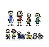 Vinilo Adhesivo de Colores Mi Familia Personalizable para Decoracion Coches, caravanas, Motos, Exterior e Interior cabado Multitud de usos CHPYHOME
