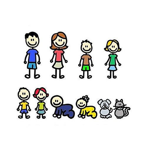 Vinilo adhesivo de colores Mi Familia personalizable para decoracion coches, caravanas, motos,...