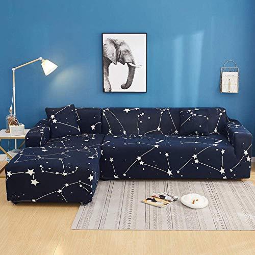 BAOFI Cubierta de Sofá rinconera, Funda de Sofa Cama Universal Elastica, Couch Cover 1 2 3 4 Plaza, para Cocina, Dormitorio Lavable en la Lavadora De múltiples Fines,7,145-190cm 235-300cm