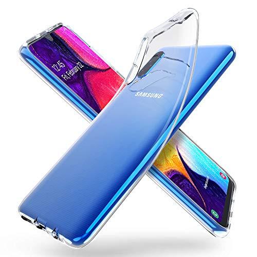 """ORNARTO Crystal Clear Cover Galaxy A50, Estremamente Sottile Morbida e Protettiva TPU Flessibile Trasparente Custodia per Samsung Galaxy A50(2019) 6,4"""""""