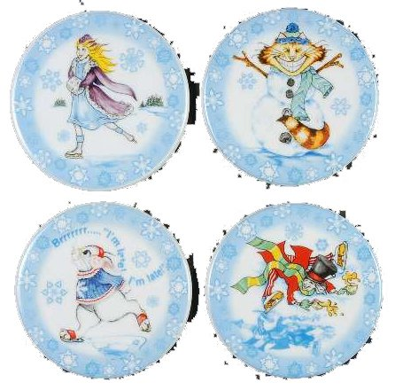 (Paul Cardew Design–Alice im Wunderland Winter Szenen–10,2cm Untersetzer 4er Set)