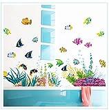 Terilizi DIY Tropivsl Fish Nursery Room Wall Sticker Home Decor Decal Removable Art Kids 3D Stickers for Bathroom Cartoon Undersea World