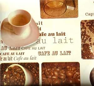 Tasses à café café au lait en PVC Toile Cirée Vinyle en tissu imprimé artisanat tissu de cuisine Café Bar Table/Tableau Nappes