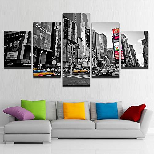 cinco pinturas consecutivas pintura moderna sobre lienzo con microaspersión pintura decorativa cama...