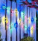 Unbekannt ABC Solar Lichterkette 77tlg. Garten Party Beleuchtung Solar mit Buchstaben NEU