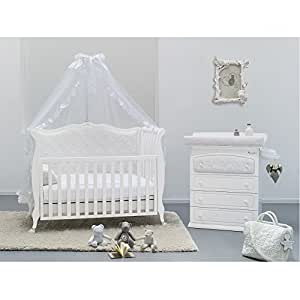 babyzimmer komplett set rinascimento mit besonderem babybett wickeltisch matratze und himmel. Black Bedroom Furniture Sets. Home Design Ideas