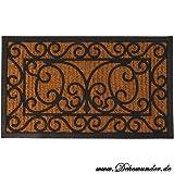 Esschert Design Fußmatte Türmatte Fussabtreter eckig Kokos Gummi 74x45