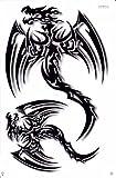 Drachen schwarz Drache Sticker Aufkleber Folie 1 Blatt 270 mm x 180 mm wetterfest