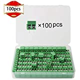 RUNCCI 100PCS300V10A 5mm Pitch PCB Mount Screw Terminal Block