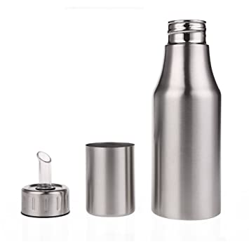 ailier Öl & essig flasche edelstahl behälter topf mit ... - Edelstahlbehälter Küche