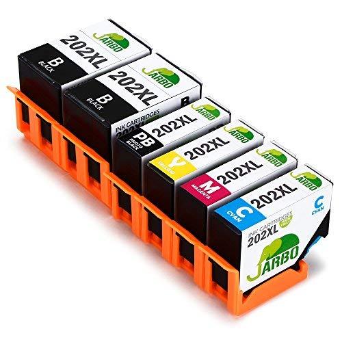 JARBO 202XL Ersetzt für Epson 202XL 202 Druckerpatronen (2 Schwarz, Blau, Rot, Gelb, Foto-schwarz) mit hoher Reichweite für Epson Expression Premium XP-6000 XP-6005 Patronen