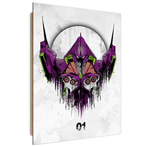 Feeby. Wandbilder - 1 Teilig- 50x70 cm - Bilder Kunstdrucke Deko Panel, Test Type - DDJVigo, ANIME, VIOLETT (Neon Papier Platten)
