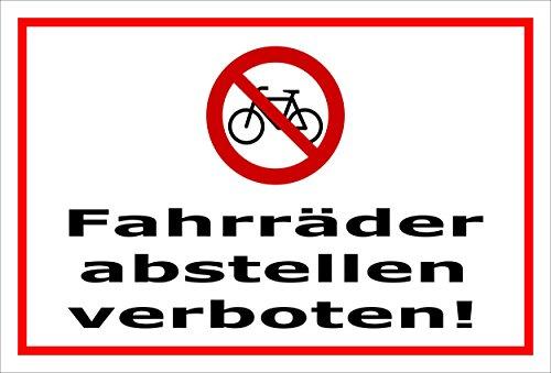 Melis Folienwerkstatt Aufkleber - Fahrräder abstellen - 30x20cm - S00050-045-B -20 Varianten