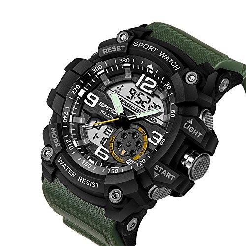 Reloj militar Berfea para hombres, reloj de pulsera impermeable, depor